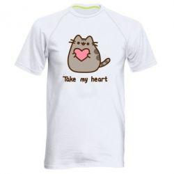 Чоловіча спортивна футболка Take my heart