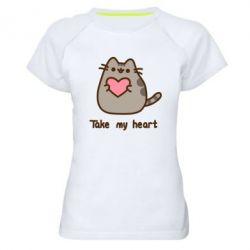 Жіноча спортивна футболка Take my heart