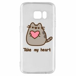 Чохол для Samsung S7 Take my heart