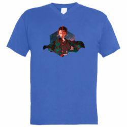 Мужская футболка  с V-образным вырезом Танджиро Камадо