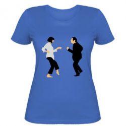 Женская футболка Танец Криминальное Чтиво