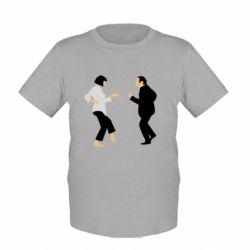 Детская футболка Танец Криминальное Чтиво