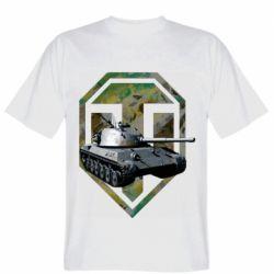 Мужская футболка Tank and WOT game logo