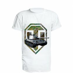 Удлиненная футболка Tank and WOT game logo