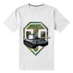 Мужская стрейчевая футболка Tank and WOT game logo