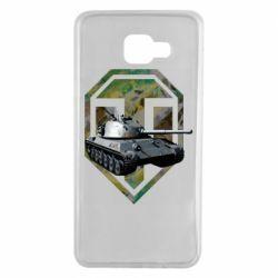 Чехол для Samsung A7 2016 Tank and WOT game logo