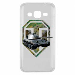 Чехол для Samsung J2 2015 Tank and WOT game logo