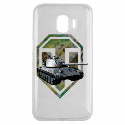 Чехол для Samsung J2 2018 Tank and WOT game logo