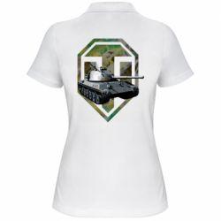 Женская футболка поло Tank and WOT game logo