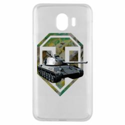 Чехол для Samsung J4 Tank and WOT game logo
