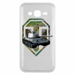 Чехол для Samsung J5 2015 Tank and WOT game logo