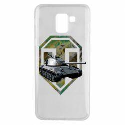 Чехол для Samsung J6 Tank and WOT game logo