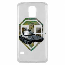 Чехол для Samsung S5 Tank and WOT game logo