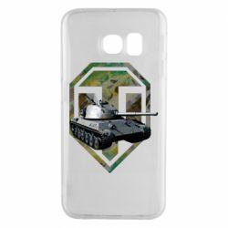 Чехол для Samsung S6 EDGE Tank and WOT game logo