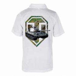 Детская футболка поло Tank and WOT game logo