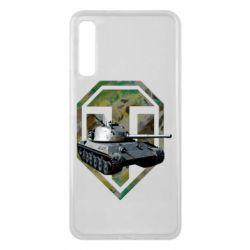 Чехол для Samsung A7 2018 Tank and WOT game logo