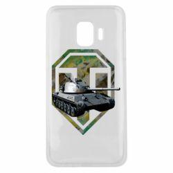 Чехол для Samsung J2 Core Tank and WOT game logo