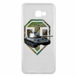 Чехол для Samsung J4 Plus 2018 Tank and WOT game logo