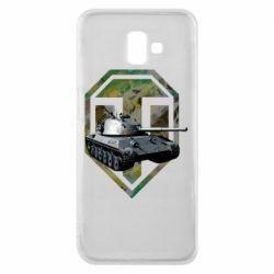 Чехол для Samsung J6 Plus 2018 Tank and WOT game logo