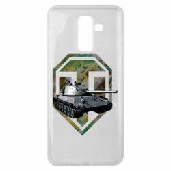 Чехол для Samsung J8 2018 Tank and WOT game logo