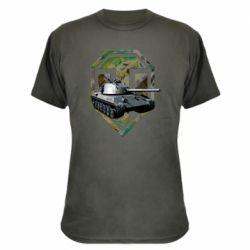 Камуфляжная футболка Tank and WOT game logo