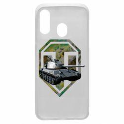 Чехол для Samsung A40 Tank and WOT game logo