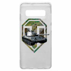 Чехол для Samsung S10+ Tank and WOT game logo