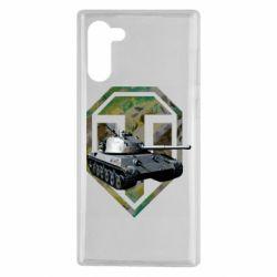 Чехол для Samsung Note 10 Tank and WOT game logo