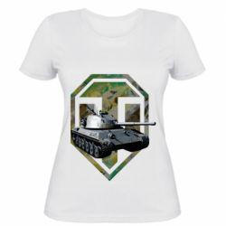 Женская футболка Tank and WOT game logo