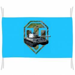 Флаг Tank and WOT game logo