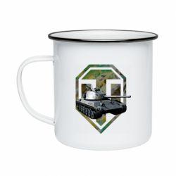 Кружка эмалированная Tank and WOT game logo
