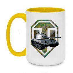 Кружка двухцветная 420ml Tank and WOT game logo