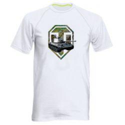 Мужская спортивная футболка Tank and WOT game logo