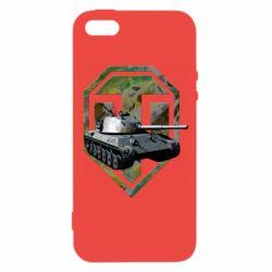Чехол для iPhone5/5S/SE Tank and WOT game logo