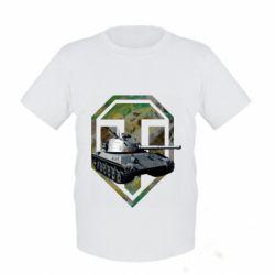 Детская футболка Tank and WOT game logo