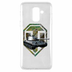 Чехол для Samsung A6+ 2018 Tank and WOT game logo