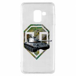 Чехол для Samsung A8 2018 Tank and WOT game logo