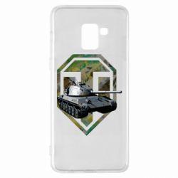 Чехол для Samsung A8+ 2018 Tank and WOT game logo