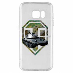 Чехол для Samsung S7 Tank and WOT game logo