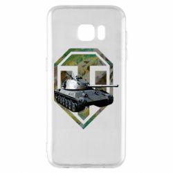 Чехол для Samsung S7 EDGE Tank and WOT game logo