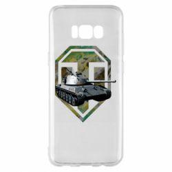 Чехол для Samsung S8+ Tank and WOT game logo