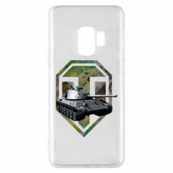 Чехол для Samsung S9 Tank and WOT game logo