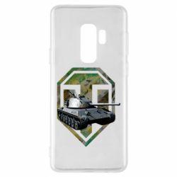 Чехол для Samsung S9+ Tank and WOT game logo