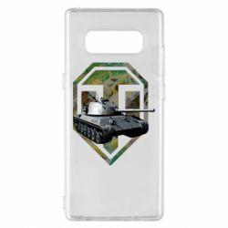 Чехол для Samsung Note 8 Tank and WOT game logo