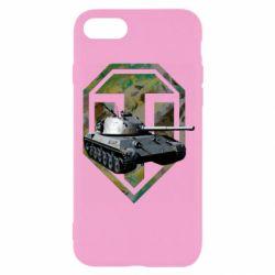 Чехол для iPhone 8 Tank and WOT game logo
