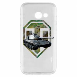 Чехол для Samsung A3 2017 Tank and WOT game logo