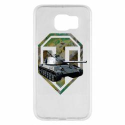 Чехол для Samsung S6 Tank and WOT game logo