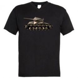 Мужская футболка  с V-образным вырезом Танк - FatLine