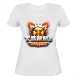 Жіноча футболка Tanki arms race