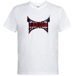 Мужская футболка  с V-образным вырезом Tapout England - FatLine